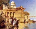 Edwin Lord Weeks, Along the Ghats, Mathura - The Culturium